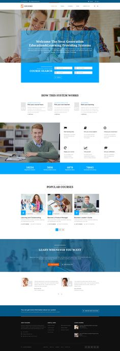 EDUZERO - Education PSD Template • Download ➝…