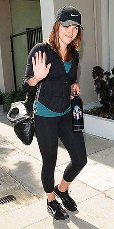 Sophia Bush -- love her Twilight water bottle