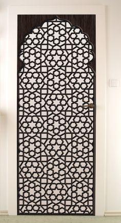 New oriental screen divider ideas Islamic Motifs, Islamic Patterns, Islamic Art, Islamic Images, Moroccan Decor, Moroccan Style, Gate Design, Door Design, Jaali Design