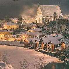 Porvoo, Finland #porvoo #winter #finland #archipelago