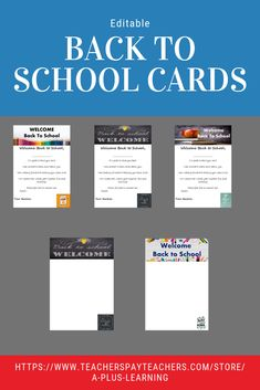 Make Back to School welcoming and fun for your students. There are 20 back to school cardsThere are 4 designs for each card. Each card include different motivational quotes to inspire your students. School Resources, Teaching Resources, Classroom Resources, Teaching Ideas, Classroom Ideas, Behavior Management Strategies, Classroom Management, Motivational Quotes, Inspirational Quotes