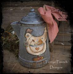 Prim Chicken Makedo - by Terrye French, E-Pattern