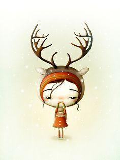 Little Sapmi by Marie Breuer, via Behance gran estilo de ilustración algo para inspirar