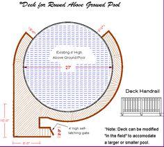 round above ground pool decks | Poolstore - Above Ground Pool Deck Plan (Pg. 1)