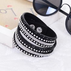 Cheap bracelet leather silver, Buy Quality bracelet set directly from China leather bracelet with watch Suppliers:     2016New Multilayer crystal Wrap bracelet Rhinestone   deluxe bracelet Double wrap leather bangle PulseirasUSD
