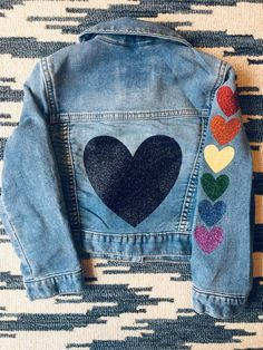 Your place to buy and sell all things handmade Girls Denim Jacket, Jean Jacket For Girls, Jean Jacket Outfits, Girls Jeans, Customised Denim Jacket, Painted Denim Jacket, Painted Jeans, Cute Jackets, Jean Jackets