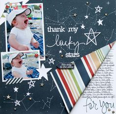 Layout: Thank my Lucky Stars **Simple Stories DT**