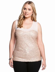 Sweetheart Sequins Tank from eloquii.com