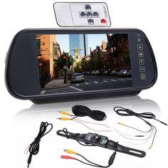 """7"""" LCD Screen Car Rear View Backup Parking Mirror Monitor + Camera Night Vision"""