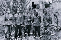 This is an undated photograph found on a dead SS man showing members of the Bosnian Muslim units that served in the Waffen SS. The SS Muslims committed horrendous atrocities in Yugoslavia and on the Eastern Front.