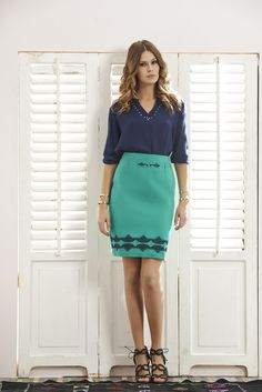 #QSQ #lookbook #quiosquepl #fashion #inspirations #outfit #ootd #look #spring #summer #feminine #womanwear #ss15 #skirt