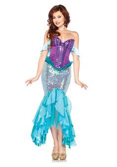Womens Deluxe Ariel Costume
