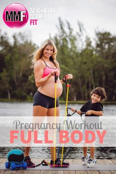 Full Body #Pregnancy Workout that helps NOT gain EXCESS WEIGHT and feel GOOD during PREGNANCY. All SAFE exercises you can do during every trimester.  http://www.michellemariefit.com/full-body-pregnancy-workout