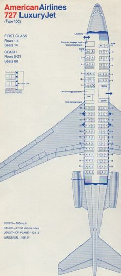 American Airlines 727 Seating Chart