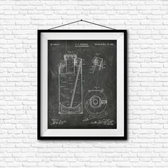 Fire Extinguisher Patent Print  1895  Poster Wall by PatentShop