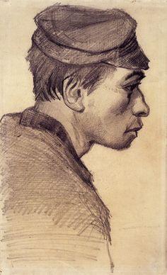 Head of a Young Man - Vincent van Gogh