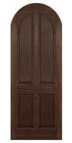 RUSTIC 3/6 X 8/0: Four Panel: Radius Panel,Radius · Rustic Doors