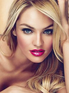 Another classic: flawless skin, cat eyes and a bold lip. Love the twist of Magenta rather than Red Lips