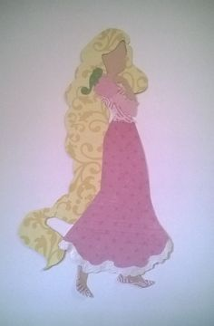 Princess Rapunzel Paper Silhouette by TheArtDressBoutique on Etsy