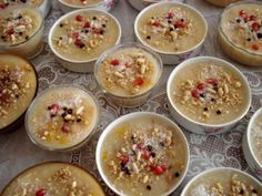 Noah's pudding in bowls ready to be shared - the significance of celebrating Asure Day.