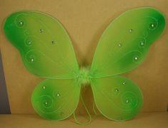 "Apple Green Butterfly Fairy Costume Wings 18"" X 14"" by DPC. $5.95"