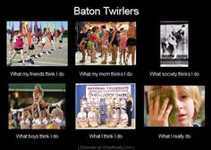 This makes me think of my mom! She did baton twirling pretty much all her life as a kid! Hahaha!