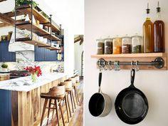 10 ideias para uma decoração industrial com canos na cozinha e sala