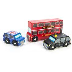 Le Toy Van London biler i træ, lille sæt
