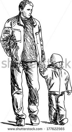 father and kid - buy this vector on Shutterstock & find other images.