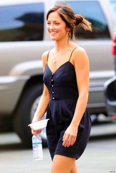 Minka Kelly - little black sundress
