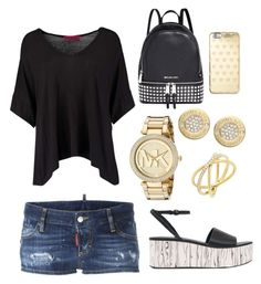 """""""Untitled #3"""" by eua-anagnwstou on Polyvore featuring Boohoo, LOTTA, Dsquared2 and Michael Kors"""