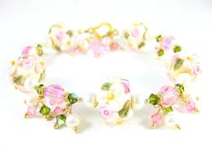 Hey, I found this really awesome Etsy listing at https://www.etsy.com/ru/listing/120418263/pink-ivory-floral-bracelet-lampwork
