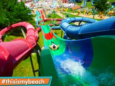 Take a daring plunge down our Triple Venom body slides! #ThisIsMyBeach