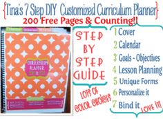 Also, I am the creator of the 7 Step Curriculum Planner to help you organize along the way.
