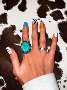 Rodeo Nails, Cowboy Nails, Simple Acrylic Nails, Best Acrylic Nails, Western Nails, Western Rings, Western Jewelry, Western Wear, Country Nails