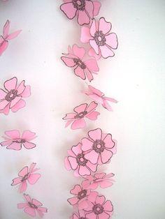 Pink Paper Flower Garland