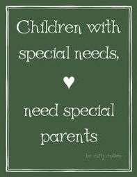 children with special needs need special parents