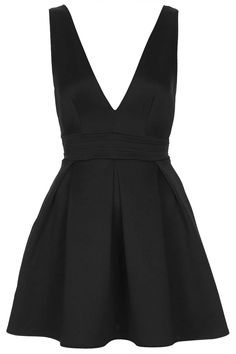 **Deep V Scuba Dress by Oh My Love topshop czarny Short Noir, Kohls Dresses, Topshop Dresses, New Years Eve Dresses, Scuba Dress, Black Cocktail Dress, Cocktail Dresses, Dress Black, Costume