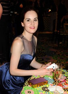 Michelle Dockery at an Emmy after party