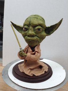 Yoda chocolate sculpture