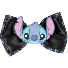 Disney Lilo & Stitch Button Hair Bow ($5.95) found on Polyvore featuring women's fashion, accessories, hair accessories, hats, disney, bows, multi, hair bow, bow hair accessories and disney hair accessories