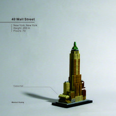40 Wall Street Lego Skyscraper, Lego System, Lego Architecture, Skyscrapers, Wall Street, Legos, Buildings, Projects To Try, Scenery