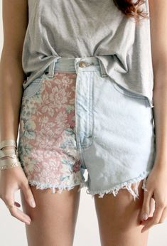printed jean cutoffs are perfect for any festival