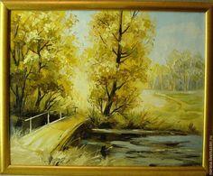 Купить Осень - разноцветный, картина, картина в подарок, картина для интерьера, картина маслом, пейзаж