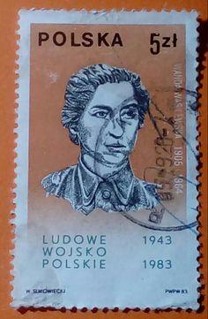 """Stamp 1983 """"Wanda Wasilewska"""", Poland"""