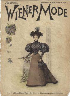 Wiener Mode 1895 Heft 6 - Blaustrumpf Painting, Art, Fashion Magazines, Fashion Pictures, Painting Art, Handarbeit, Blue, Art Background, Kunst
