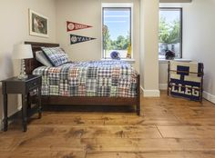 Prefinished Engineered Maple Character - Hand Scraped Face and Edge - Antique Mahogany Stain Wide Plank Flooring, Hardwood, Interior Deco, Hardwood Floors, Flooring, Furniture, Interior, Mahogany Stain, Home Decor