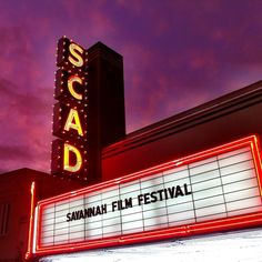 Gorgeous Savannah sky at the opening of the 2012 Savannah Film Festival #SCAD #SavFF @SCAD - Savannah College of Art and Design  Photo by scaddotedu on Instagram