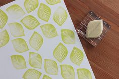 DIY Linoleum Botany Themed Stamp