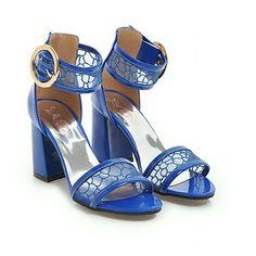Damenschuhe Sandalen Pumps High Heels Mesh Peep Toes Riemen Fashion PU 30-46